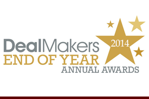 DealMakers 2014 End of Year Annual Awards
