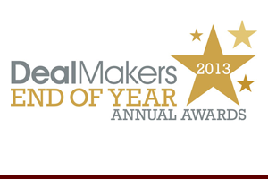 New York Intellectual Property Law Firm Of The Year from DealMakers End of Year Annual Awards, 2013