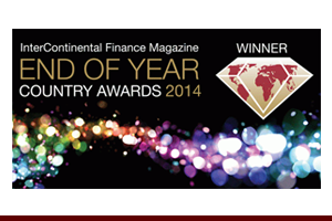 InterContinental Finance Magazine End of Year Country Awards, 2014