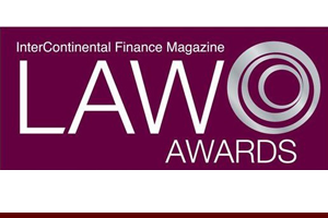 Entertainment Law Firm of the Year - NYC, InterContinental Finance Magazine Law Awards, 2014