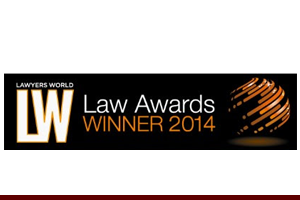 Entertainment Law Firm of the Year - NYC, Lawyers World Law Awards, 2014