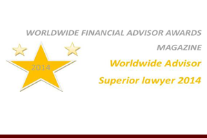 New York Intellectual Property Law Firm Of The Year from Worldwide Financial Advisor Awards Magazine, 2014